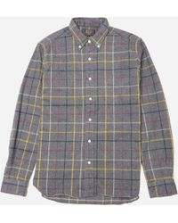 Beams Plus - Button Down Shaggy Check Shirt - Lyst