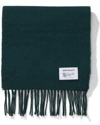 Norse Projects - Norse X Johnstons Lambswool Scarf Moss - Lyst
