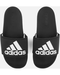 adidas - Adilette Logo Slide Sandals - Lyst
