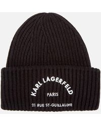 Karl Lagerfeld - Rue St. Guillaume Beanie Hat - Lyst