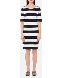 GANT - Barstripe Piqué Dress - Lyst