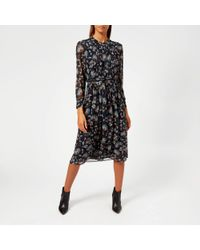 Whistles - Pitti Print Midi Shirt Dress - Lyst