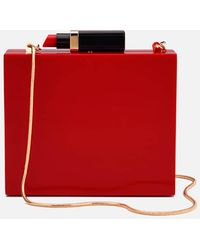 Lulu Guinness - Chloe Perspex Clutch Bag With Lipstick - Lyst
