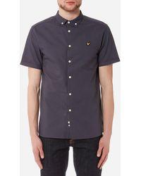 Lyle & Scott - Short Sleeve Garment Dye Oxford Shirt - Lyst