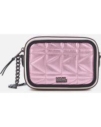 Karl Lagerfeld - K/kuilted Pink Camera Bag - Lyst