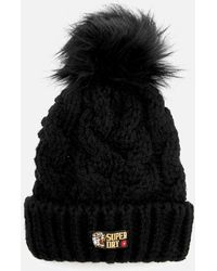 Superdry - Chic Regal Cable Beanie - Lyst