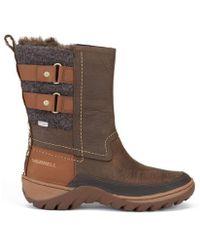 Merrell - Sylva Mid Buckle Waterproof Boots - Lyst