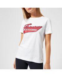 Tommy Hilfiger - Tommy Logo Script Short Sleeve T-shirt - Lyst