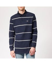 3f231e31 Tommy Hilfiger Ricky Stripe Rugby Shirt in Blue for Men - Lyst