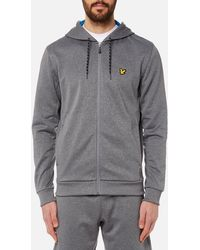 Lyle & Scott - Hill Fleece Hooded Track Top - Lyst