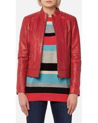 BOSS Orange - Janabelle3 Leather Jacket - Lyst