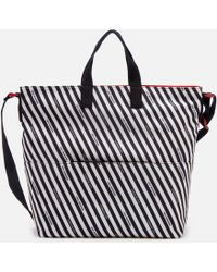 Lulu Guinness - Stripe Canvas Romy Tote Bag - Lyst