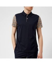 Aquascutum - Rutland Vicuna Detail Short Sleeve Polo Shirt - Lyst