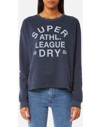 Superdry - Athletic League Loopback Crew Sweatshirt - Lyst