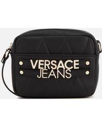 Versace Jeans Handbag With Chain Handle And Clasp in Black - Lyst 8d0bdda58519a
