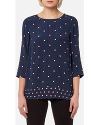 Joules - Leah Woven Printed Top - Lyst