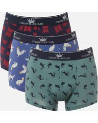 Joules - Crowne Boxer 3 Pack - Lyst