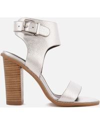 Sol Sana - Tiki Ii Leather Heeled Sandals - Lyst
