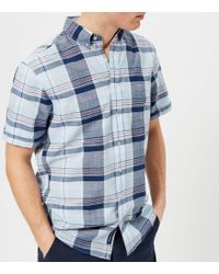 GANT - Blue Pack Madras Short Sleeve Shirt - Lyst