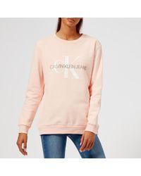 Calvin Klein - Monogram Logo Sweatshirt - Lyst