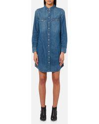 Levi's - Iconic Western Shirt Dress - Lyst