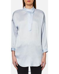 SELECTED - Augusta 7/8 Shirt - Lyst