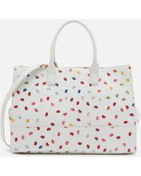 Lulu Guinness - Daphne Confetti Lip Print Tote Bag - Lyst