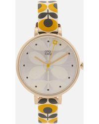 Orla Kiely - Ivy Print Leather Watch - Lyst