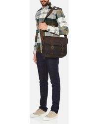 Barbour - Wax Leather Terras Bag - Lyst