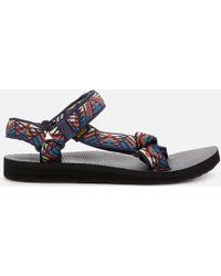 4dd773062046 Teva  flatform Universal  Sandals in White - Lyst