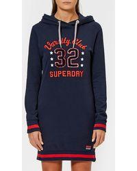 Superdry - Tokyo Hooded Sweat Dress - Lyst