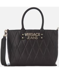 Versace Jeans - Quilted Classic Tote Bag - Lyst