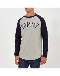 6ea1b00c Tommy Hilfiger - Tjm Raglan Baseball Long Sleeve T-shirt - Lyst