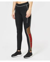 Ivy Park Sheer Flocked Active Logo Leggings