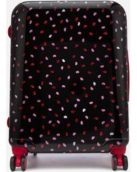 Lulu Guinness - Medium Confetti Lip Print Hardside Suitcase - Lyst