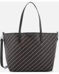 Karl Lagerfeld - Stripe Logo Shopper Bag - Lyst