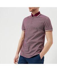 Ted Baker - Poodal Stripe Detail Polo Shirt - Lyst