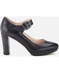 Clarks - Kendra Gaby Leather Mary Jane Heels - Lyst