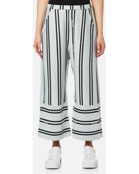 House Of Sunny - Stripe Fit And Flare Culottes - Lyst