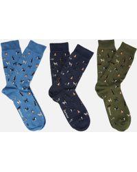 Barbour - Dog Motif Sock Gift Box - Lyst