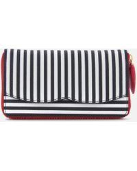 Lulu Guinness - Stripe Continental Wallet - Lyst