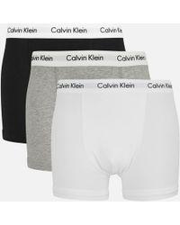 Calvin Klein - 3 Pack Basic Trunks - Lyst