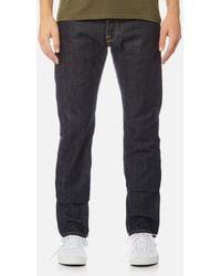 Edwin - Ed-55 Regular Tapered Rainbow Selvage Denim Jeans - Lyst