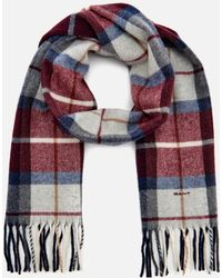 GANT - Check Lambswool Scarf - Lyst
