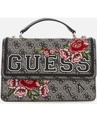 Guess - Vikky Convertible Cross Body Flap Bag - Lyst
