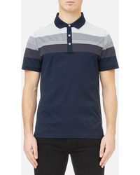 Michael Kors - Men's Multi Texture Stripe Yolk Block Polo Shirt - Lyst