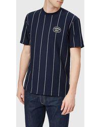 Lacoste - Vertical Stripe/patch Logo T-shirt - Lyst