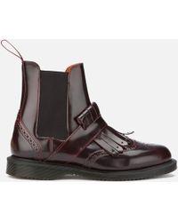 Dr. Martens | Tina Arcadia Leather Kiltie Chelsea Boots | Lyst