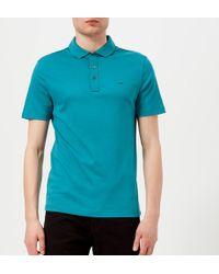 Michael Kors - Liquid Jersey Short Sleeve Polo Shirt - Lyst