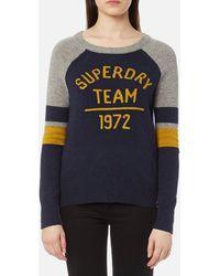 Superdry - Varsity Logo Knitted Jumper - Lyst
